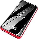 KEDRON Powerbank Wireless Charger 25000mAh Externer Akku, 2 in 1 Kabellose Qi Power Bank mit Micro&USB C Dual Eingänge und 3 Ausgänge hohe Kapazität für das Smartphones