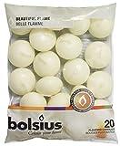 bolsius Schwimmende Kerzen 103632053705, Paraffin-Wachs, Elfenbein, Elfenbeinfarben, 4.5x19x22 cm