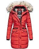 Navahoo Damen Winter Jacke Mantel Parka warm gefütterte Winterjacke B383 [B383-Paula-Rot-Gr.M]