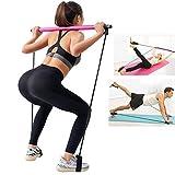 Augproveshak Pilates Resistance Band, Pilates-Riegel, Home Gym-Körpertraining, Yoga-Übungsriegel, Fitness-Stab mit Fußschlaufe für Bodybuilding-Training