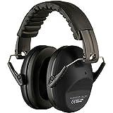 Vanderfields Gehörschutz für Erwachsene - Faltbare und Komfortabler Kapselgehörschutz mit Verstellbare Stirnband - Schwarz