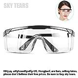 Schutzbrille Vollsichtbrille Einstellbare Überbrille Schleifbrille für Brillenträger (Schwarz)