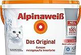 Alpinaweiß DO Spritz-Frei 1 Liter Innenfarbe weiß