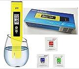 Digitaler PH-Messgerät 0,01 pH-Genauigkeit Wasserqualitätstester mit ATC-Messbereich 0-14, Messbereich mit Kunststoffbox für Hauswasser, Hydrokultur, Aquarien, Pool, 6 pH-pH-Verpackungen, Kalibrierung