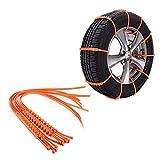 BSTCAR 10 Stück Auto Schneekette, Reifen Anti Rutsch Notfall Schnee Reifenketten Schnee Anfahrhilfe Universal Schnee-Reifen-Kette Rutschsichere Kette für Auto SUV