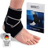 Bodify® Fußbandage – Schmerzlindernde Sprunggelenkbandage – Knöchel Schutz und Stabilität – Sprunggelenkbandage, Fußgelenkbandage, Achillessehnenbandage - Atmungsaktiv