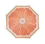 Meinposten Sonnenschirm Ø 155 cm Strandschirm knickbar Schirm Balkonschirm Gartenschirm (Orange)