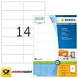 HERMA 4625 Universal Etiketten DIN A4 (105 x 42,3 mm, 200 Blatt, Papier, matt) selbstklebend, bedruckbar, permanent haftende Adressaufkleber, 2.800 Klebeetiketten, weiß