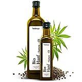 Premium BIO Hanföl von Steinberger | 100% rein & kaltgepresst I Hanf-Öl mit nussigem Geschmack aus nachhaltigem Anbau | 750 ml Glasflasche mit Dosierer