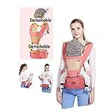 LYXCM Babytrage Hüftsitz (Sling Safe Backpack) Rückenschmerzstütze (Carriers Back Pain Support) 3-In-1-Tragemöglichkeiten Träger-Sling-Anzug Für Neugeborene Kleinkinder