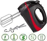 Turbo Handmixer | 300 Watt | 5 Stufen | Turbofunktion | Handrührer | Stabmixer | Hand Mixer | Handrührgerät | Rührer | Edelstahl-Knethaken | Edelstahl-Rührhaken |