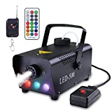 Asmuse Nebelmaschine mit Kabelloser Fernbedienung und Buntes LED Licht 500W Stabil und Tragbar Passend für Weihnachten Hochzeitsfeiern und Bühnenauftritte