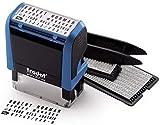 Trodat Printy 4912 Typo – Selbstfärbender Stempel zum Selbst Setzen von Text, 4 Zeilig, Abdruckfarbe schwarz, 47 x 18 mm