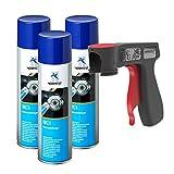AUPROTEC Bremsenreiniger MC-1 Multicleaner Spray Intensiv Reiniger transparent 3X 500ml + 1x Original Pistolengriff