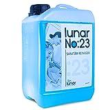 lunar. premium cleaning 3 Liter Sanitärreiniger Konzentrat Kanister Kraftvoller Profi Badreiniger Fliesenreiniger für den Sanitärbereich mit Auslaufhahn