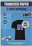 PPD 10 x A4 Blatt Inkjet PREMIUM T-Shirt Transferpapier Transferfolie Bügelfolie für dunkle Textilien und Tintenstrahldrucker PPD04-10
