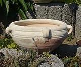 2. Wahl .Schale Blumentopf echt Terrakotta 32 cm, Blumenkübel für Garten und Wohnung Terracotta kein Kunststoff, Blumen
