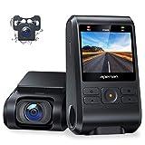 APEMAN Dual Dashcam C550, Vorne und Hinten Versteckten Autokamera, 1080P FHD IPS Bildschirm, Nachtsicht, WDR, G-Sensor, Parküberwachung, Bewegungserkennung, Loop-Aufnahme, Unterstützt GPS