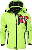 Geographical Norway Herren Softshell Jacke Funktions Outdoor, Grün - XL