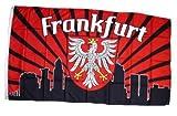 Fahne / Flagge Frankfurt Silhouette Fan NEU 90 x 150 cm