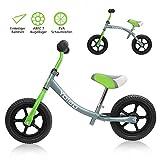 Yoleo Kinder Laufrad Lauflernrad Balance Fahrrad Kinderrad für Jungen und Mädchen ab 2-3 Jahre 360° drehbar Lenker Höhenverstellbar nur 2,88 kg (Grün)