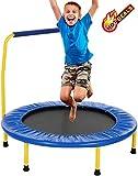 Oppikle Fitness-Trampolin Mini Faltbares Trampolin mit dem verstellbaren Handlauf Fitness Training Trampolin, Nutzergewicht bis 135kg, Trampolin für Jumping (Blau - Type2)