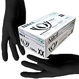 SFM  BLACKLETS Nitril : XS, S, M, L, XL schwarz puderfrei F-tex Einweghandschuhe Einmalhandschuhe Untersuchungshandschuhe Nitrilhandschuhe XL (100)