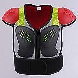MAKE FINE Kinder Motorrad Schutzjacke,sicherheitsausrüstung Brust Wirbelsäulenschutz,schließen-passen Ärmellose Einstellbar,kinder Skating Atv Grau L
