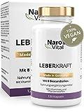 Mariendistel - 80% Silymarin, Artischocken, Löwenzahn, Curcuma, Cholin & Desmodium - Komplex für die Leber (wichtigstes Entgiftungs-Organ) - 120 Kapseln - Vegan - LeberKraft