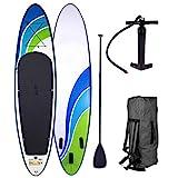 SUP Board Stand up Paddle Paddling Surfboard 3 Modelle 300-365cm aufblasbar Alu-Paddel Hochdruck-Pumpe Rucksack Kick-Pad bis 150KG gewebtes Drop Stitch Speed