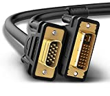 UGREEN DVI auf VGA Kabel DVI-I 24+5 Stecker auf 15 Pin VGA Stecker Adapterkabel mit Vergoldete Konverter Hochreine Kupferleiter, Unterstützung 1080P für Gaming , DVD , Laptop, HDTV und Beamer (1.5m)