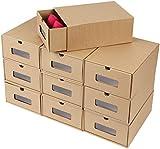 femor Schuhaufbewahrung Set, 20PCS schuhbox stapelbar Schubladen Schuhkarton aus Kraftpapier, Allzweckbox Aufbewahrungsbox