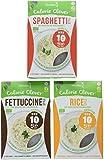 Slendier Bio Konjak-Nudel Fitness Probierpaket: 2 x Fettuccine-Style 250g, 2 x Spaghetti-Style 250g, 2 x Rice-Style 250g