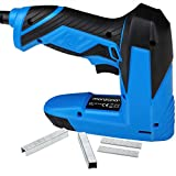 Monzana 2in1 Elektrotacker inkl. 400 Klammern 100 Nägel 30 Schüsse pro Minute Softgrip Elektro Tacker Nagler