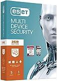 ESET Multi-Device Security 2020 | 5 Geräte | 1 Jahr | Windows (10, 8, 7 und Vista), macOS, Linux und Android | Aktivierungscode in Standardverpackung
