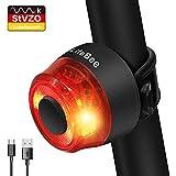 LIFEBEE LED Fahrrad Rücklicht, StVZO Zugelassen USB Wiederaufladbare Fahrradlicht Fahrradbeleuchtung Rücklicht für Fahrrad, IPX4 Wasserdicht Fahrradrücklicht Fahrrad licht rücklicht Fahrrad