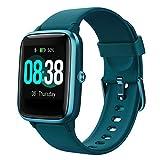 Smartwatch, YONMIG Fitness Armband Tracker Voller Touch Screen Uhr IP68 Wasserdicht Armbanduhr Smart Watch mit Schrittzähler Pulsmesser Stoppuhr für Damen Herren Sportuhr für iOS Android (Blau)