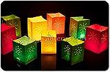 24 x Lichttüten, Candle Bags, Lanterns, Luminaria Party & Feier Geburtstag, farbig