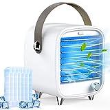 Homtiky Mobile Klimaanlage Mini Klimagerät Tragbarer USB Luftkühler Verdunstungskühler Cool Air Ventilator mit einstellbaren Geschwindigkeiten Ideal für Büro, zu Hause, Auto,Camping usw.