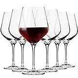 Krosno Große Burgunder Rot-Weingläser   Set von 6   860 ML   Splendour Kollektion   Perfekt für zu Hause, Restaurants und Partys   Spülmaschinenfest und Mikrowellengeeignet