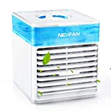 Klimaanlage Klein, Persönliche Klimaanlage mit Atemlampe und Spray, Mini Klimaanlage mit 3 Geschwindigkeiten und Atemlampe, USB-Aufladung, für Desktopr/Schlafzimme/Büro/Wohnzimmer