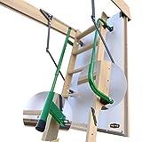 Gedämmte HEYKE W1 Bodentreppe mit Zwei Handläufe Spart Energiekosten | U-Wert 0,36 W/M2*K | Luftdichtheitsklasse 4 | 2 Dichtungen | Bequeme Assistenz-Federmechanismus | Möbelqualität