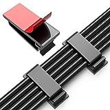 JIRVY 50 Stück Kabelclips Selbstklebende Kabelführungsclips Kabelorganisatoren Kabelklemmen Kabelhalter für TV-PC Laptop Ethernet-Kabel Desktop Home Office(Schwarz)