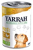 Yarrah Bio Hundefutter Pate Huhn, Spirulina, Seetang 400 g, 12er Pack (12 x 400 g)