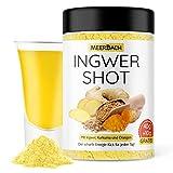 Fruchtig scharfer Ingwer Shot mit Vitamin C und Zink • veganer Ingwer und Kurkuma Shot zum Anrühren von 60 Shots • von Hand in Deutschland abgefüllt