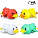 aovowog Badespielzeug Baby Badewannenspielzeug Duck wasserspielzeug Badewanne, Schwimmende Bade Bad Badewannen Spielzeug für Kinder Baby 1 2 3 Jahr(4 Stücke)