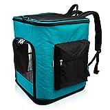 Navaris Rucksack für Hund Katze gepolstert - Hunderucksack Katzenrucksack mit Bauchgurt - 40x33x40cm Haustier Backpack faltbar - Traglast bis 12kg