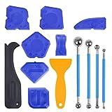 FOCCTS 9 Stück+ 4 Stück Werkzeug Schaber Kit Fugenglätter Set für Badezimmer Küche Raum und Rahmen