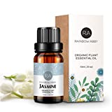 Jasminöl Ätherisches Öl 100% Reines Aromatherapie Öl für Seifen, Kerzen, Massagen, Hautpflege, Parfums - 10ml