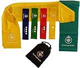 Cannymania 6er Set Gymnastikbänder   4 Loops (Minibänder) + 2 Lange Sportbänder  mit PDF Übungsanleitung   Fitnessbänder Set 2m  Resistance Band Set   Physioband Set   Gummiband Fitness